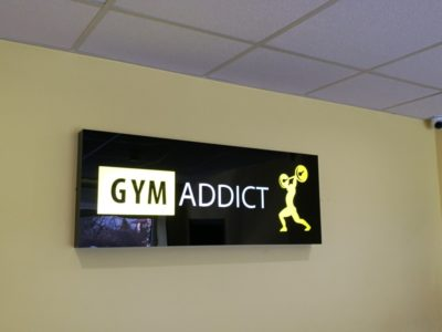 Kaseton dla siłowni Gym Addict/ Big Print Biłgoraj drukarnia